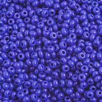 John Bead; Czech Seedbead Approx 22G Vial 10/0 Opaque Royal Blue