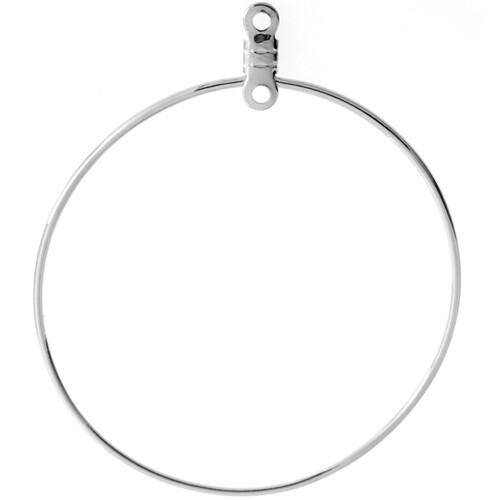 John Bead; Earhoop Link Round 38Mm Nickel Color Lf/Nf