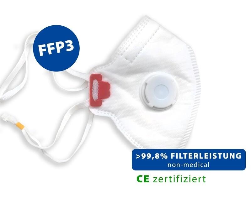 Respirateurs FFP3 avec valve - paquet de 10