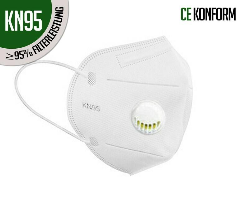 Atemschutzmasken KN95 (FFP2) mit Ventil  10er Packung