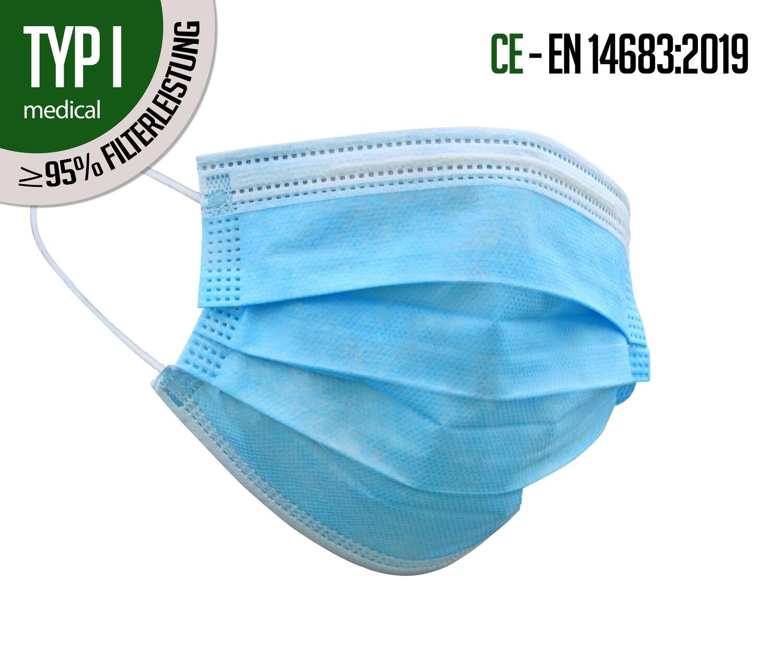 TYP I - Atemschutzmasken 50er Packung (solange Vorrat)
