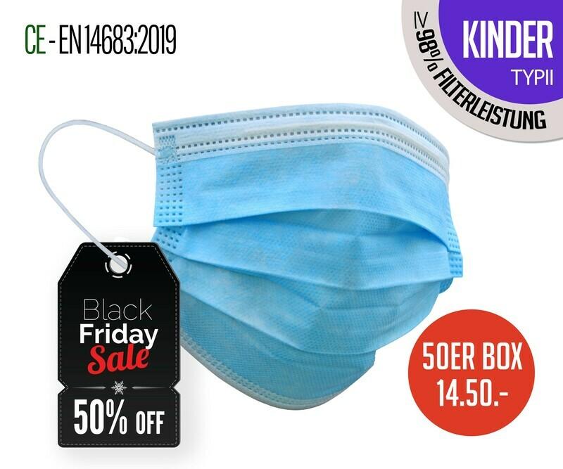 Kinder - TYP II Atemschutzmasken 50er Packung
