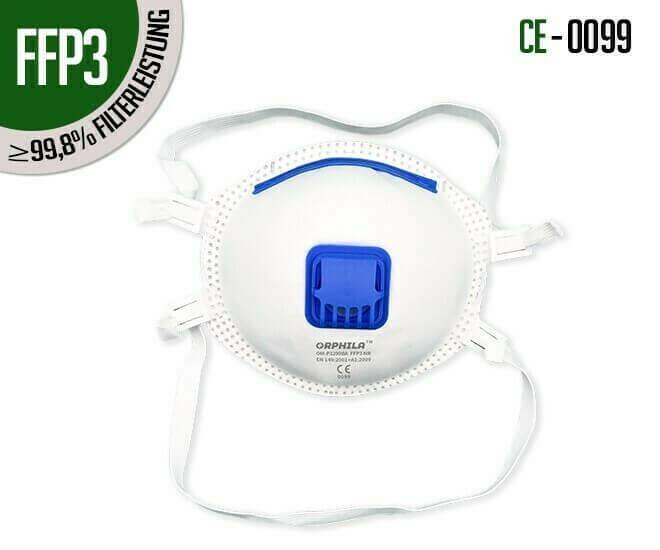 Atemschutzmasken FFP3 mit Ventil 10er Packung