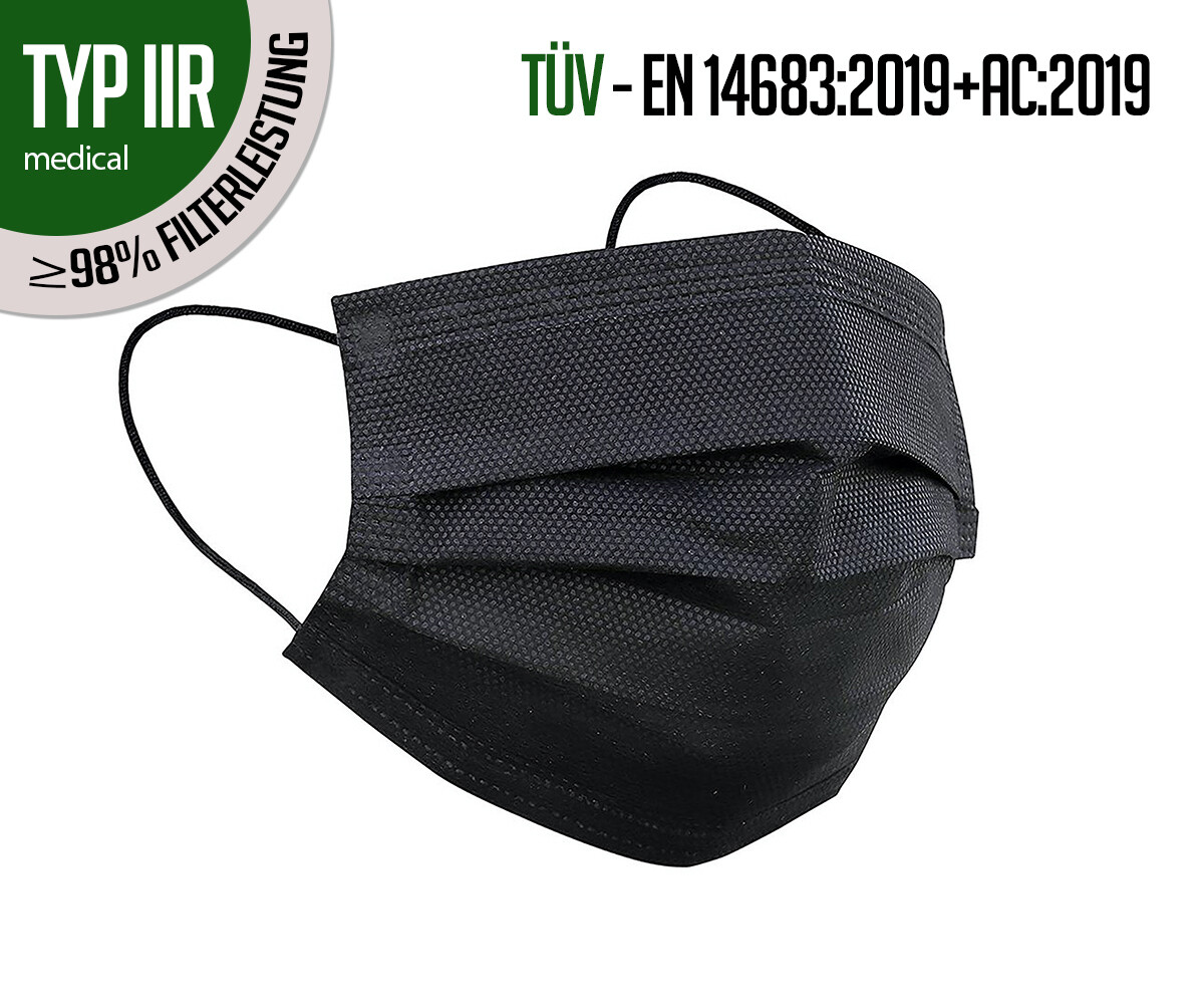 TYPE IIR respiratory protection masks - pack of 50