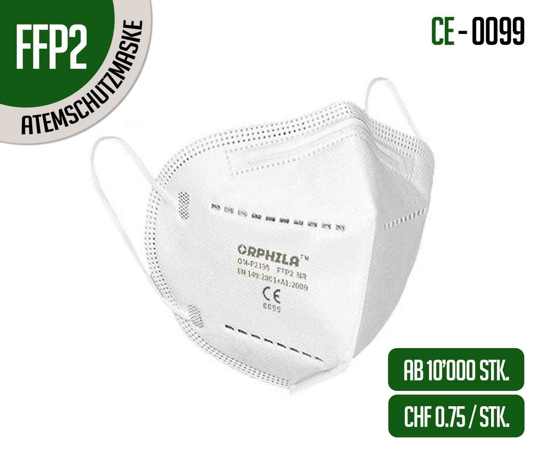 Orphila FFP2 Atemschutzmasken 10'000er Packung
