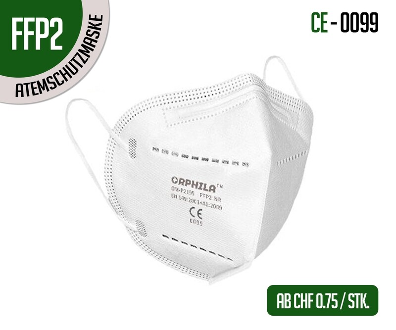 Masques de protection respiratoires FFP2 - lot de 10