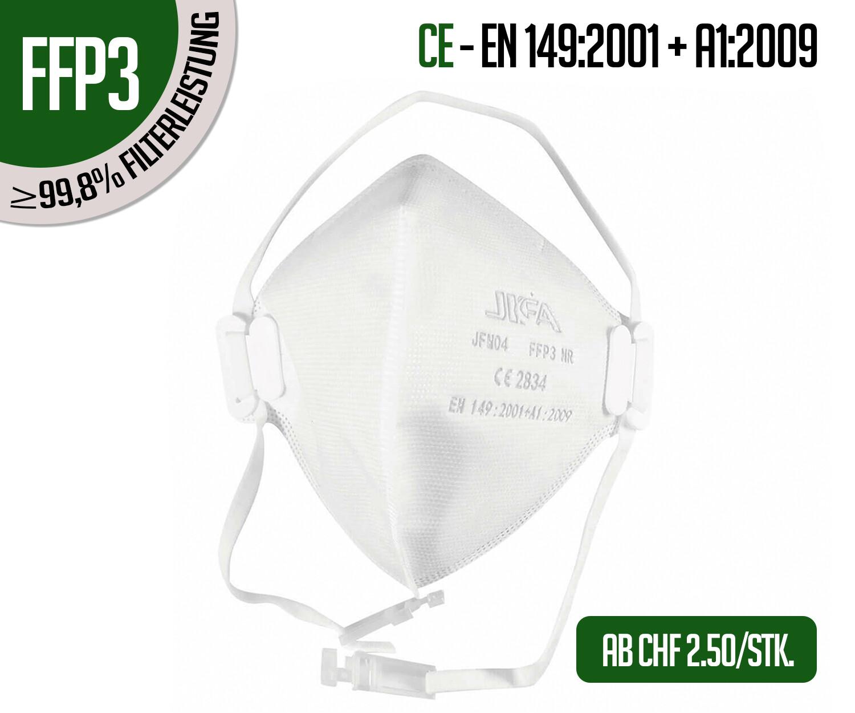 Atemschutzmasken FFP3 ohne Ventil  10er Packung