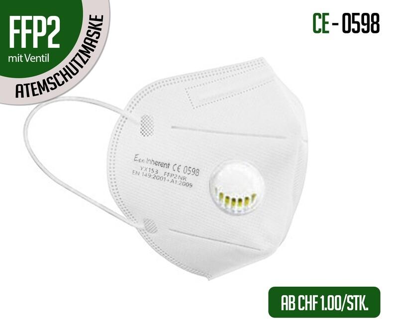 Mascherina respiratoria di protezione FFP2 con valvola - confezione da 10 pz.