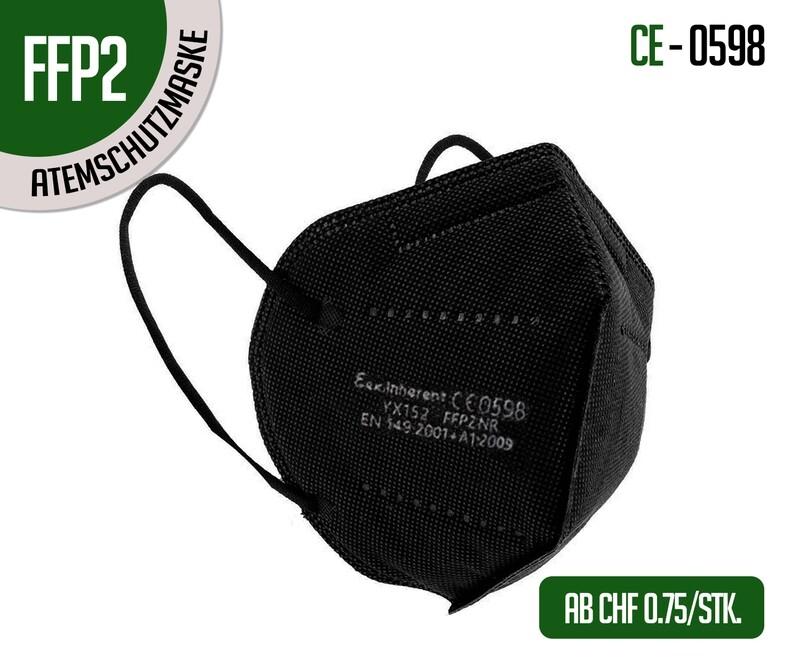 Mascherina respiratoria di protezione FFP2 nero - confezione da 10 pz.