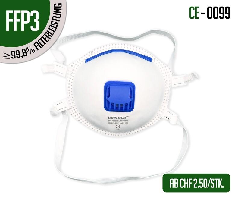 Respiratori FFP3 con valvola - confezione da 10