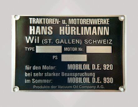 """Metalschild """"Motorenschild"""""""