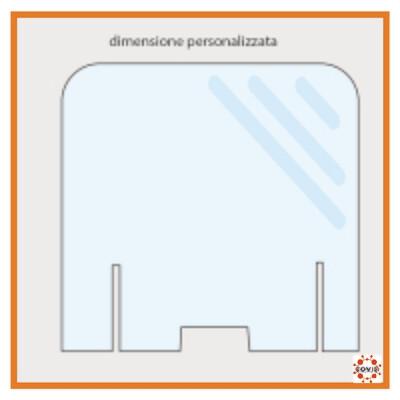 Barriera Parafiato in plexiglass -  modello 1