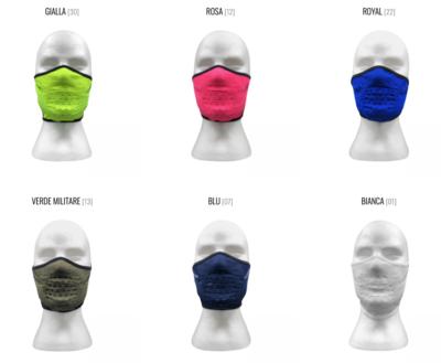Mascherina lavabile in diversi colori