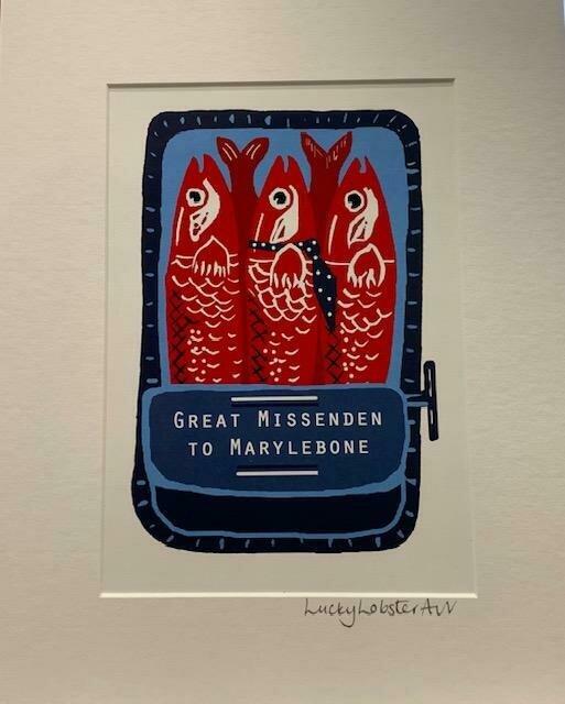 Lucky Lobster Art Unframed Sardines Print