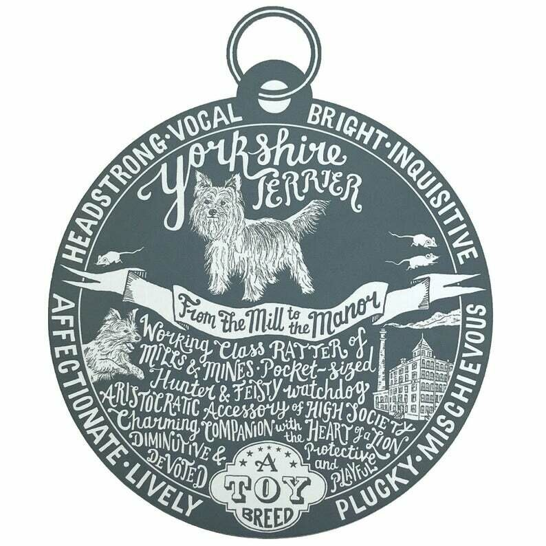 Debbie Kendall Yorkshire Terrier Dog Tag Print