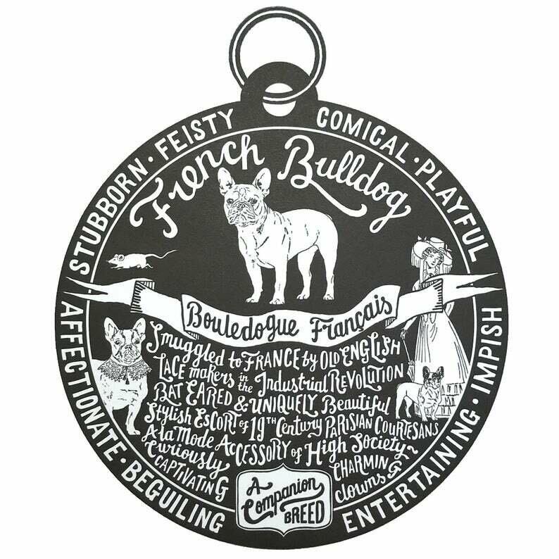 Debbie Kendall French Bulldog Dog Tag Print