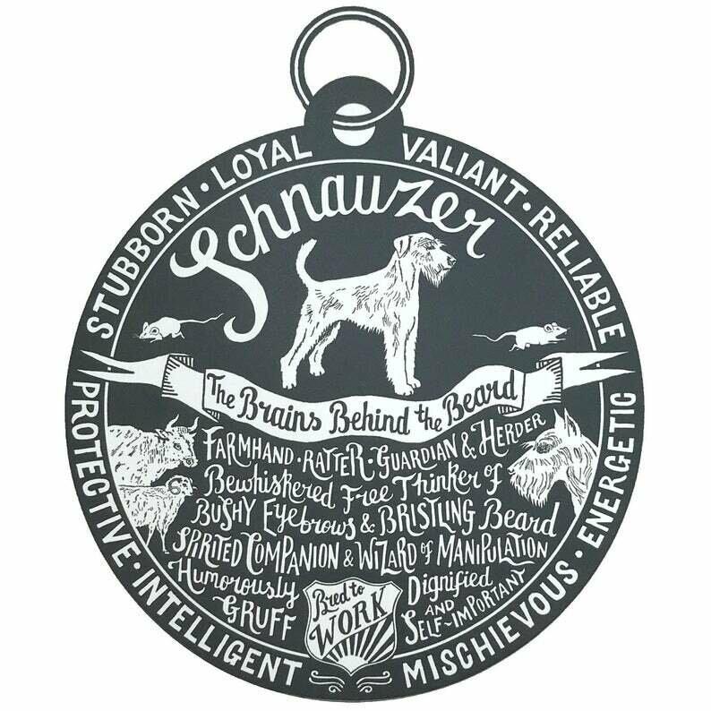 Debbie Kendall Schnauzer Dog Tag Print
