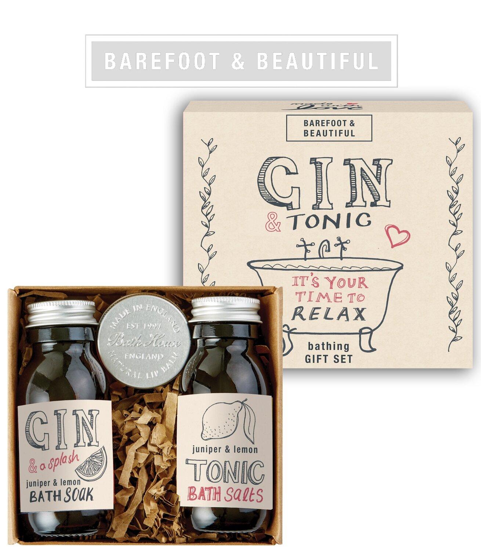 The Bath House Barefoot Gin & Tonic Bathing Gift Box