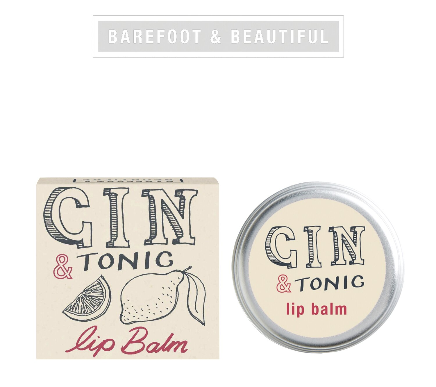 The Bath House Barefoot Gin & Tonic Lip Balm