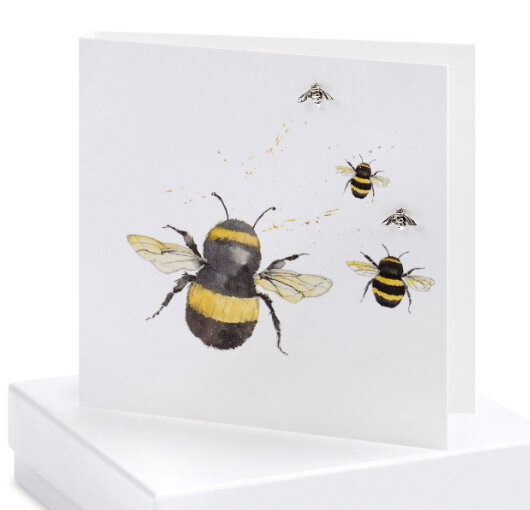 Crumble and Core  Earring Card Bee
