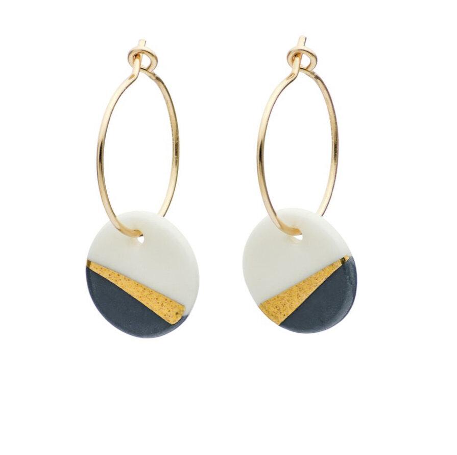 One & Eight Porcelain Slate Ray Earrings