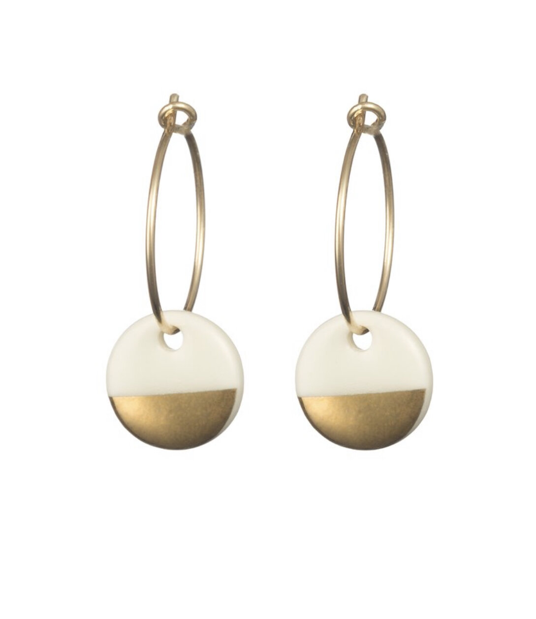 One & Eight Earrings Porcelain Dipped