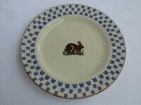 Rabbit side plate Brixton Pottery