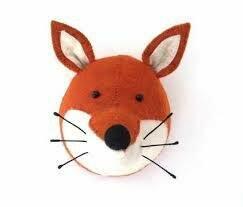 Fiona Walker Felt Fox Animal Head
