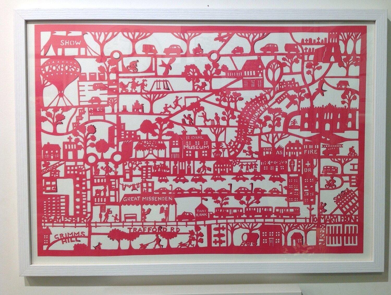 Papercut Print of Great Missenden