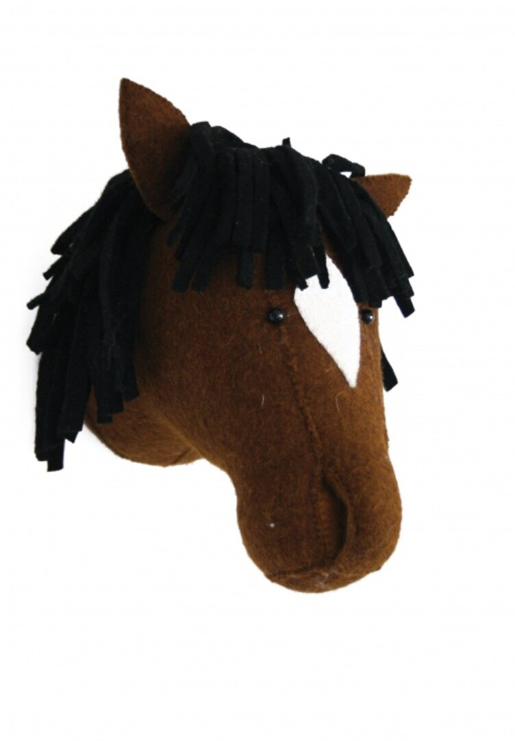 Fiona Walker Pony Felt Animal Head