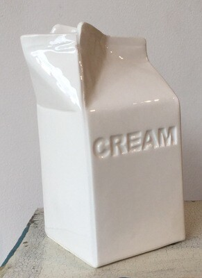Katie Brinsley Ceramic cream carton