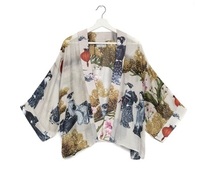 One Hundred Stars Lanterns Kimono