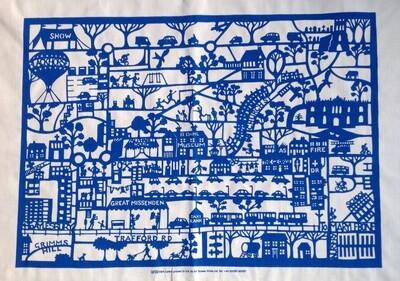 Great Missenden Tea Towel Blue
