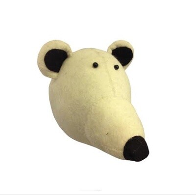 Fiona Walker Polar Bear Felt Head
