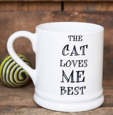 Sweet William The Cat Loves Me Best Mug