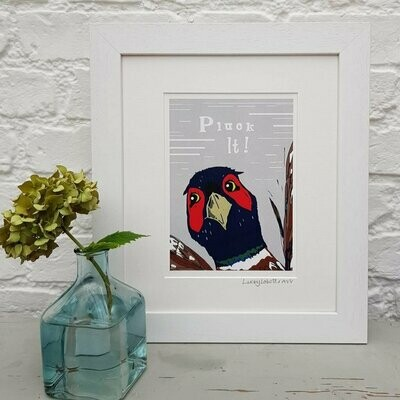 Lucky Lobster Art Unframed 'Pluck It' Print
