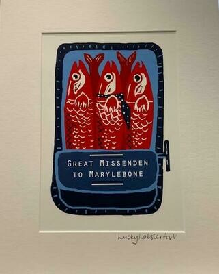 Lucky Lobster Art Unframed Sardines Print