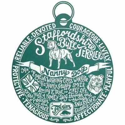 Debbie Kendall Staffordshire Bull Terrier Dog Tag Print