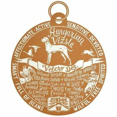 Debbie Kendall Hungarian Vizsla Dog Tag Print