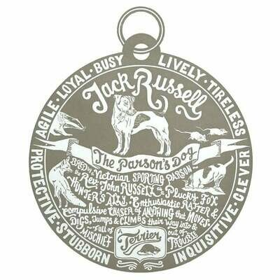 Debbie Kendall Jack Russell Dog Tag Print
