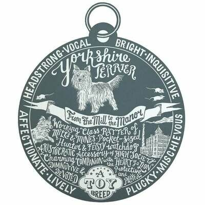 Debbie Kendall Yorkshire Terrier Dog Tag Print