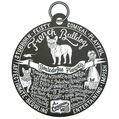 Debbie Kendall French Bulldog Dog Tag Print