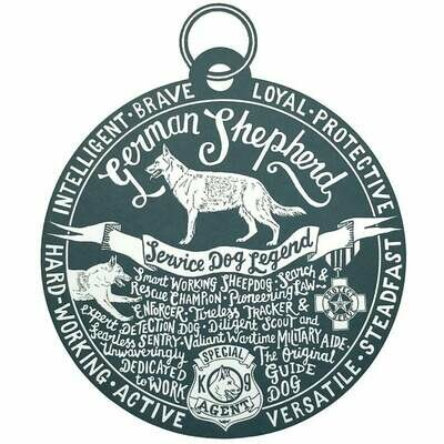 Debbie Kendall German Shepherd Dog Tag Print