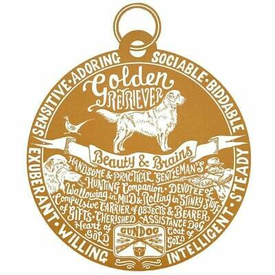 Debbie Kendall Golden Retriever Dog Tag Print