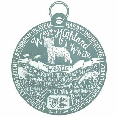 Debbie Kendall West Highland White Dog Tag Print