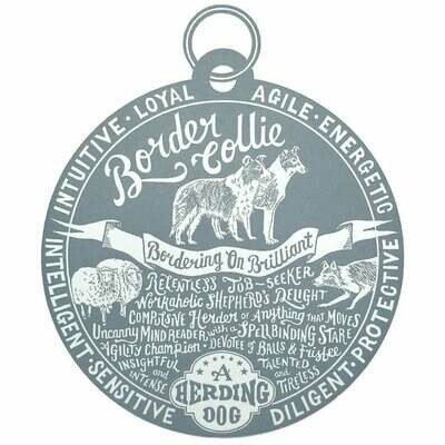 Debbie Kendall Border Collie Dog Tag Print