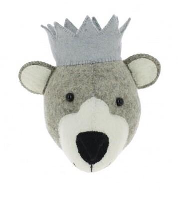 Fiona Walker Bear With  Crown Mini Head