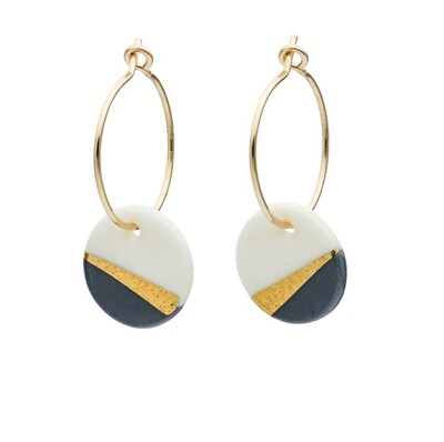 One & Eight Porcelain Slate Ray Earrings