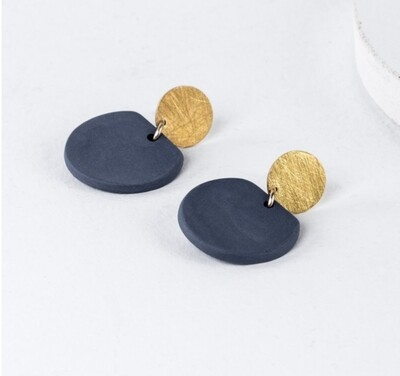 One & Eight Porcelain Cobalt Eve Earrings