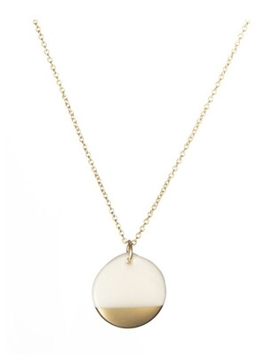 One & Eight Porcelain Disc Necklace